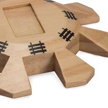 Wooden Mexican Train Dominoes Centerpiece Hub Special Board Game Accesso... - $13.85