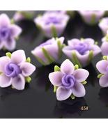 rose beads polymer clay beads wholesale beads jewelry beads DIY beads CB002 - $25.00