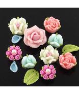 rose beads polymer clay beads wholesale beads jewelry beads DIY beads CB... - $18.00