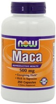 NOW Foods Maca 500mg 250 Capsules - $25.95