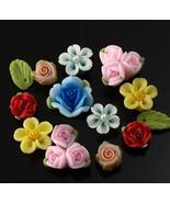 rose beads polymer clay beads wholesale beads jewelry bead DIY beads CB1... - $17.00