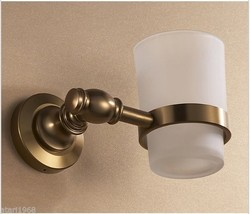 Toothbrush Cup Holder, Wall Mounted Single Tumbler Antique Bronze Color ... - $49.35