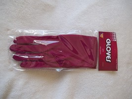 """Gloves Theatrical Maroon Adults Stretch Polyester NEW 9"""" Long Free Shipping - $7.99"""