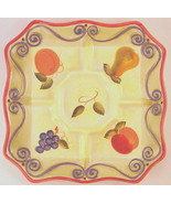Medici Ceramic Serving Platter Divided Sections Hand Painted Collection - $84.64