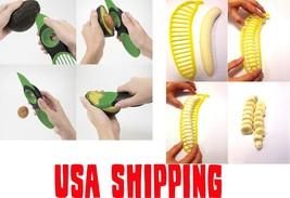Avocado Tool + Banana Slicer - USA Shipping - 3in1 Pitter Cutter Peeler ... - $7.91