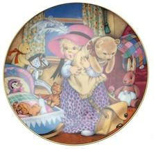 Carol Lawson Playing Dress Up Teddy Bear plate ... - $36.42