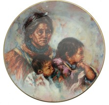 Royal Doulton Noble Heritage Native American plate LE 10000 CP2329 - $43.75