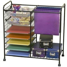 SCRAPBOOKING MOBILE SCRAPBOOK CENTER HANGING FOLDERS TRAYS BOXES SHELVES - $102.95