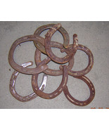 7  Metal Iron Used Horse Shoe Good Luck Charm Horseshoe Real Rusty Rustic - $24.99