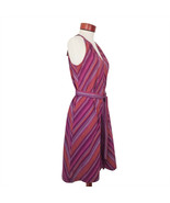 Stripe Sleeveless Cotton Summer Purple Dress A New Day Size XS - $12.83
