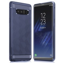 Geometric Pattern Carbon Fiber Texture Soft TPU Cell Phone Case for Sams... - $4.05