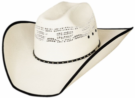 Bullhide Beer Time 20X Bangora Cowboy Hat All Around Venting Bound Brim Natural image 1