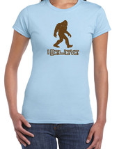 048 I Believe women's Tshirt funny jaws sasquatch bigfoot new All Sizes/Colors - $15.00
