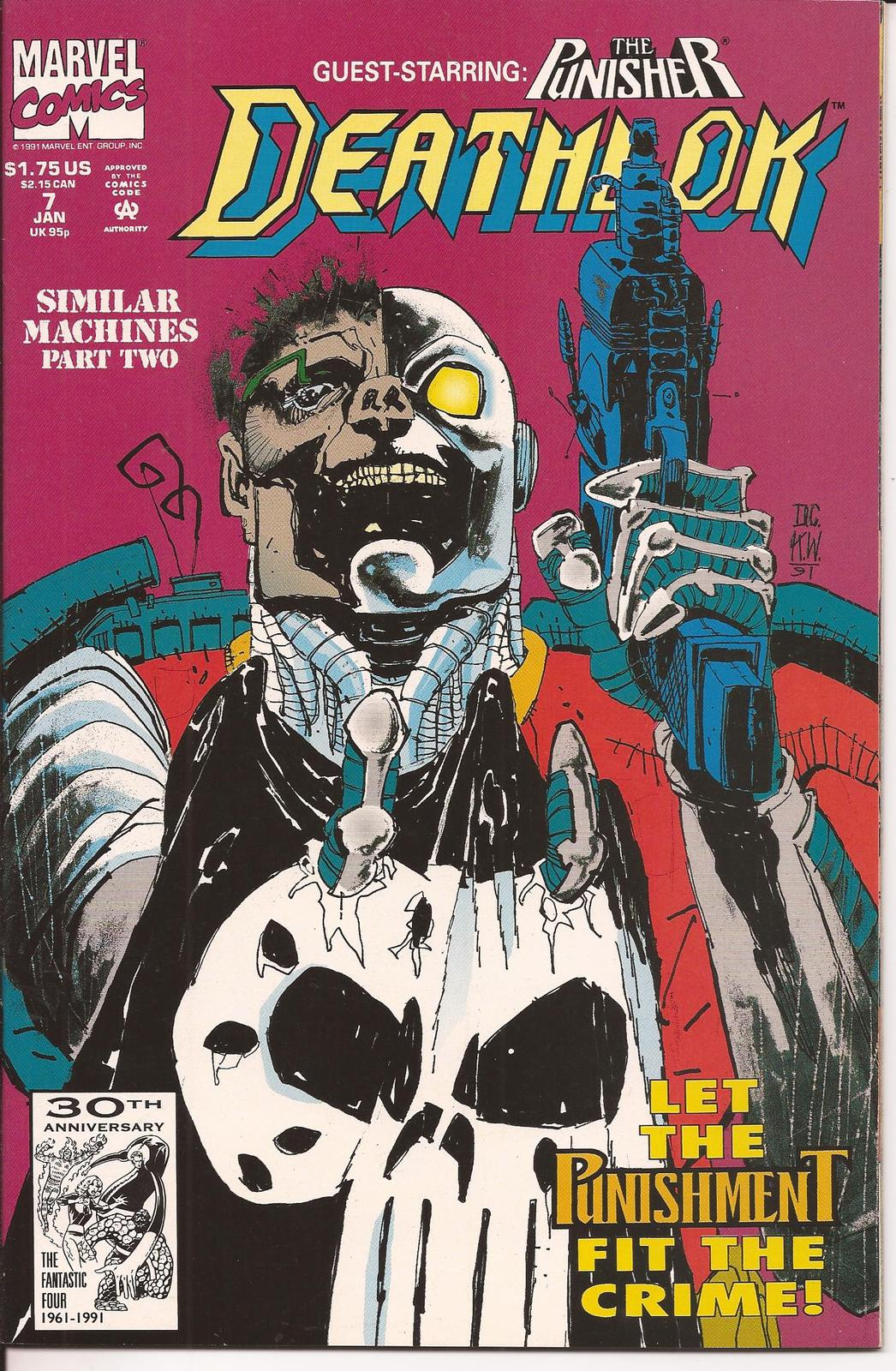 Marvel Deathlok Lot Issues #6,7 & 19 Cyberwar The Punisher Action Adventure