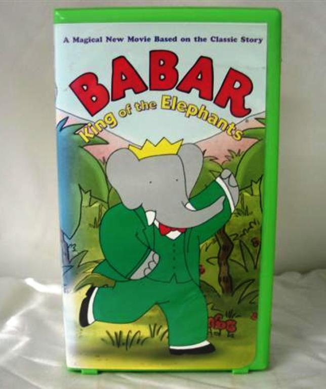 BABAR KING OF the elphants on VHS cassette with ACTIVITY BOOK