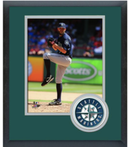 Tom Wilhelmsen 2014 Seattle Mariners - 11x14 Team Logo Matted/Framed Photo - $43.55