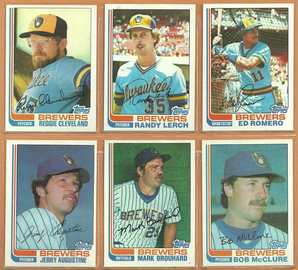1982 Topps Milwaukee Brewers Team Lot 29 Robin Yount Paul Molitor Fingers Ted Si