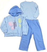 2T Babyworks Toddler Girl's 3-Piece Fleece Hoodie Outfit with LS Tee and Pants
