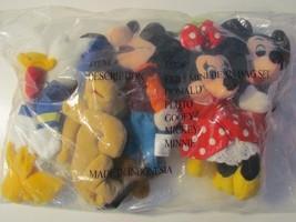 New Disney Fab 5 Mini Bean Bag Mickey Minnie Pluto Donald Pluto Goofy - $18.99