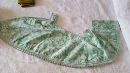 VINTAGE SPIEGEL SAGE FLORAL CURTAINS RL FISHER, GREEN, DOUBLE WIDTH TAB ... - $9.89
