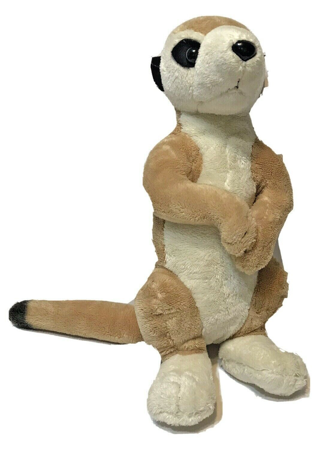 "Primary image for Wildlife Artists Plush Meerkat 14"" Brown and Cream Soft Clean"