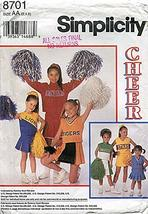 Simplicity Pattern #8701 Size: Aa (2,4,6)CHILD'S & Girls' Design Your Own Cheerl - $15.28
