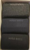 Hugo Boss 3 pack Men's Black Blue Gray Cotton Socks One Sz 7-13 NEW - $31.03