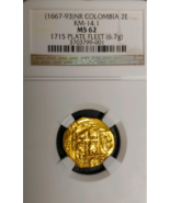 "COLOMBIA 1667 2 ESCUDOS ""1715 FLEET"" SHIPWRECK TREASURE NGC61 PIRATE GOL... - $4,950.00"