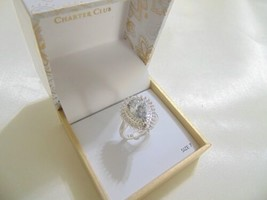 Charter Club size7 Silver-Tone Cubic Zirconia Pear Ring CL138 $27 - $12.47