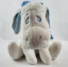 "Disney Store Winnie the Pooh Eeyore 17"" Plush White Blue Scarf Hat Snowf... - $24.19"