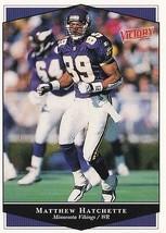 1999 Upper Deck Victory Matthew Hatchette #149 Football Trading Card Vik... - $1.97