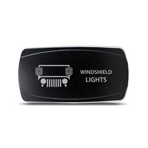 CH4x4 Rocker Switch Jeep Windshield Lights Symbol – Horizontal - Amber LED - $16.44