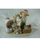 Circle Of Friends Santa's Helper PorcelainFigurine 1994 Home Interiors H... - $14.84
