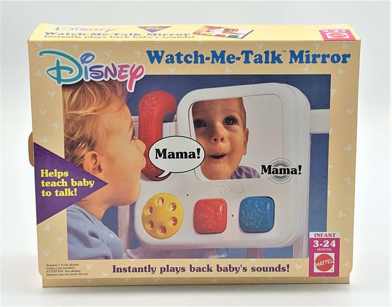 Primary image for Mattel Disney Watch Me Talk Mirror Infant Crib Play Teach Baby To Talk Vintage
