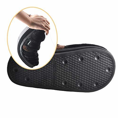 Heated Slippers for Cold Weather,Refial Flannel Warm Slippers,Hot Shoes,Heated