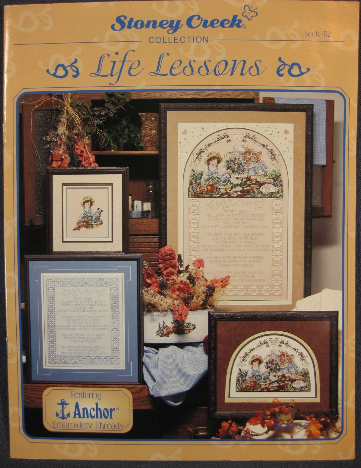 Stoney Creek Book 182 LIFE LESSONS Counted Cross Stitch Pattern Collection 1997 - $6.50