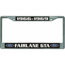 ford fairlane gta 1966-1969 auto car logo chrome license plate usa made - $28.49
