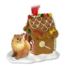 Conversation Concepts Pomeranian Red Ginger Bread House Ornament - $21.99