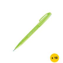 Pentel Caligraphy Brush Sign Pen (10pcs), Light Green, SES15C - $25.99