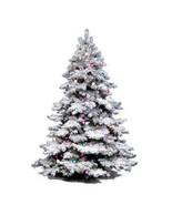 "Vickerman 36"" Flocked Alaskan Pine Artificial Christmas Tree with 100 Cl... - $114.77"