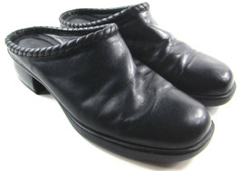 Cole Haan Women's Black Leather Clogs Mules Slip On Slide On Shoes Size 8 M  - $31.18