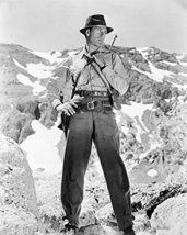 Gary Cooper in For Whom the Bell Tolls on mountain with guns 16x20 Canvas Giclee - $69.99