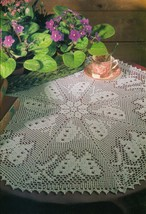 Advanced Swarm Of Butterflies Crochet Centerpiece Doily Pattern - $5.99