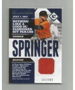 GEORGE SPRINGER (Houston Astros) 2017 PANINI CHRONICLES RELIC CARD #CS-GE. - $8.59