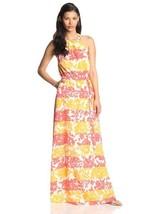 JESSICA SIMPSON Womens SMALL Gathered Halter Neckline Chiffon Maxi Dress - £28.40 GBP