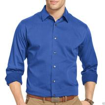 Van Heusen Essentials Long-Sleeve Woven Shirt Size M Blue New Msrp $54.00 - $19.99