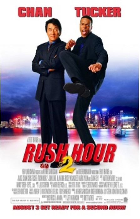 2001 RUSH HOUR 2 Movie POSTER 13.5x20 NEW Jackie Chan Chris Tucker