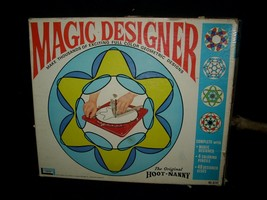 VINTAGE 1967 MAGIC DESIGNER SPIROGRAPH HOOT NANNY KIT STENCIL DRAWING PI... - $43.53