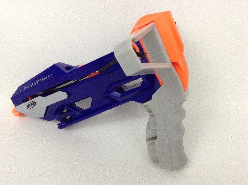 LOT (2) Hasbro Nerf Guns Slingstrike & Glow Shot Blasters w/ Darts
