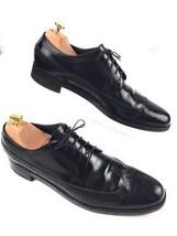 Florsheim Black Leather Full Brogue Wingtip Shoes Mens 11.5 A Narrow - $19.96